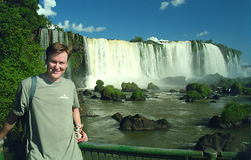 Geoff and Tig on the Brazilian Iguazu side.