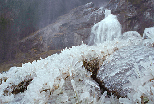 Krimml Falls and its Iced Blast Zone